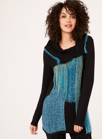 Alison Sheri - Split Turtleneck Knit Sweater, , hi-res