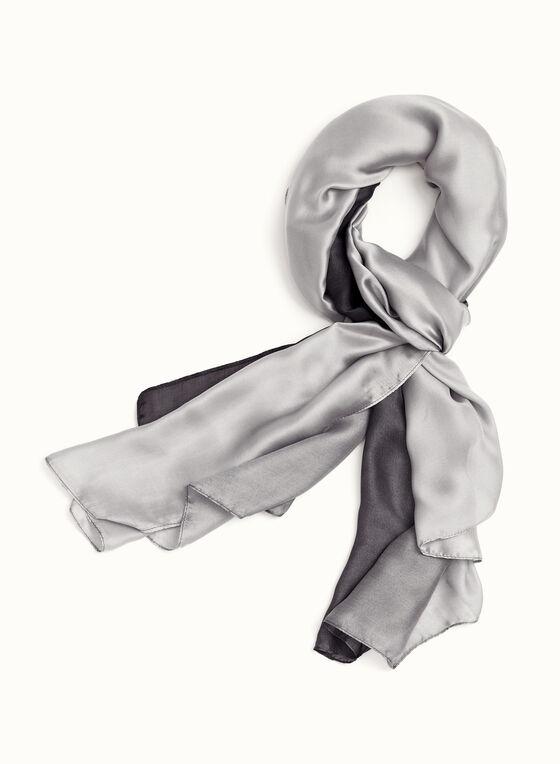 Foulard rectangulaire ombré, Noir, hi-res