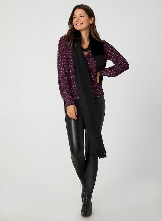 Long Sleeve Crepe Top, Purple, hi-res