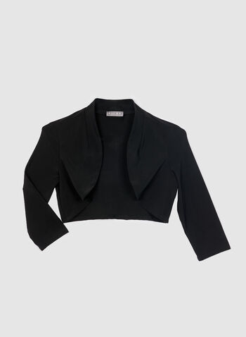 Stand Collar Bolero, Black, hi-res