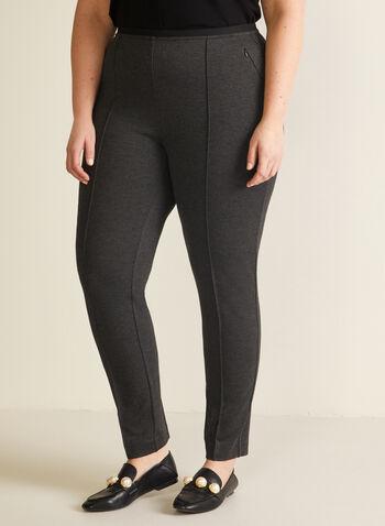 Pantalon jambe étroite à enfiler, Gris,  automne hiver 2020, pantalon, pull-on, taille élastique, à enfiler, jambe étroite