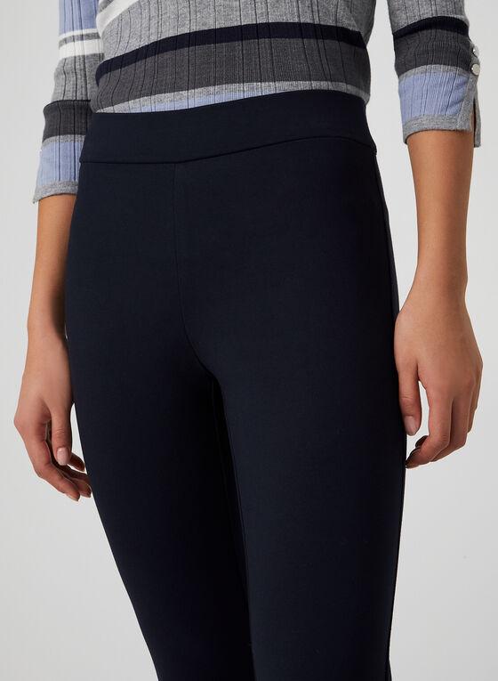 Pantalon coupe cité à jambe étroite, Bleu