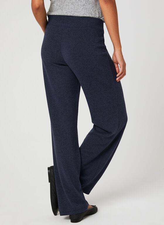 Wide Leg Knit Pants, Blue, hi-res