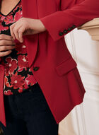 Single-Button Shawl Collar Jacket, Pink