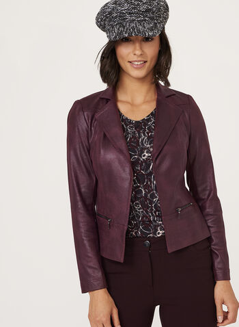 Vex - Faux Suede Jacket, Purple, hi-res