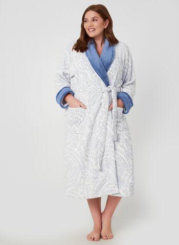 Claudel Lingerie - Belted Robe, Off White,  Claudel Lingerie, robe, bathrobe, fall 2019, winter 2019