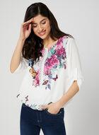 Ness - Blouse à fleurs et papillons, Blanc, hi-res