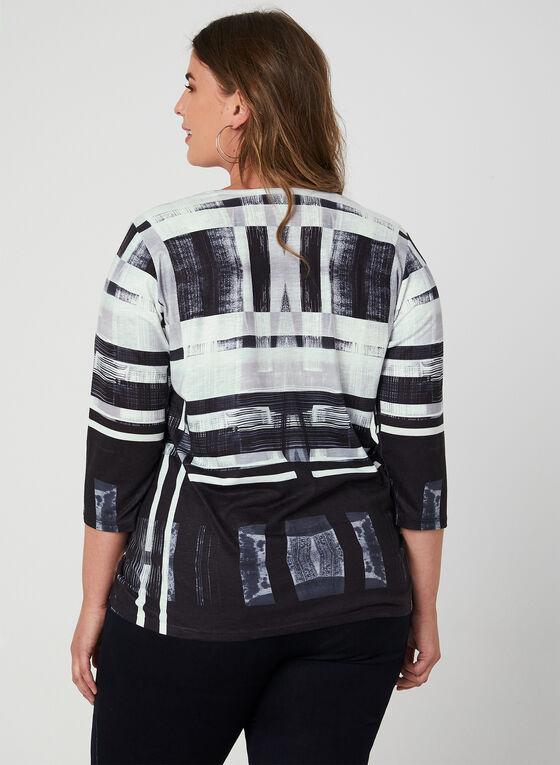 Abstract Print Top, Black