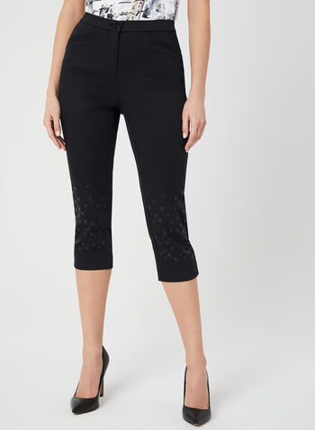 Signature Fit Capri Pants, Black, hi-res,  Signature Fit, capri pants, cotton, spring 2019