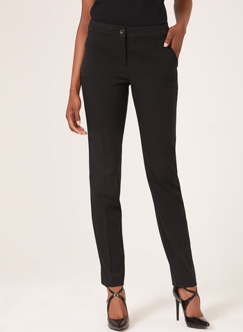Modern Fit Straight Leg Pants, Black, hi-res,