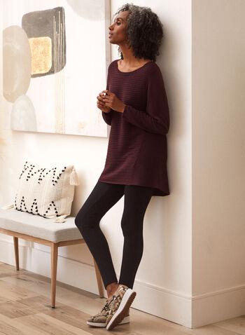 Legging à enfiler avec surpiqûres, Noir,  legging, à enfiler, pull-on, taille élastique, extensible, surpiqûres, automne 2021