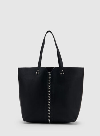 Lace Up Detail Tote Bag, Black, hi-res