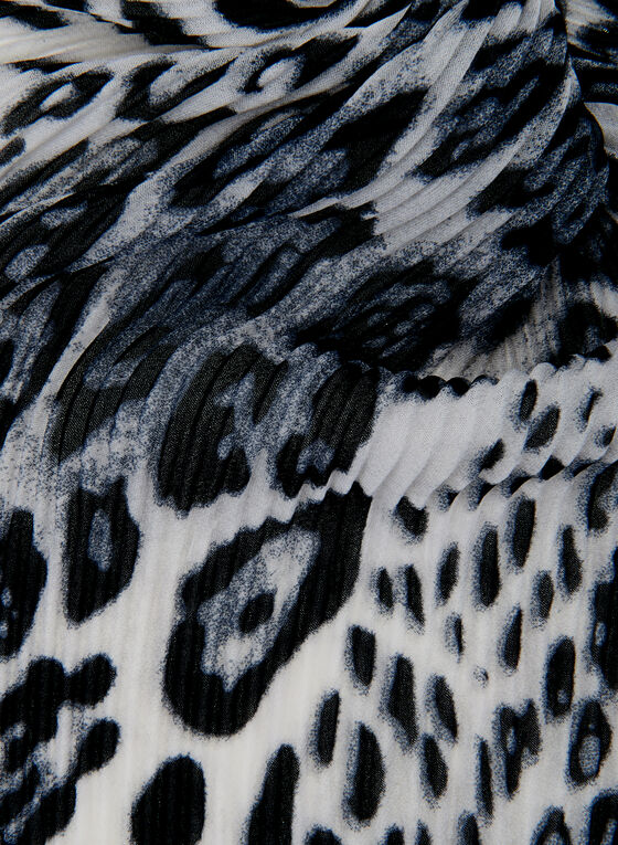 Animal Print Scarf, Grey