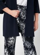 Pantalon coupe moderne à fleurs, Bleu, hi-res