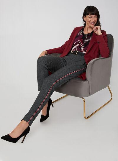 Pantalon à bandes contrastantes