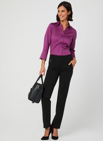 Mode de Vie - Signature Fit Pants, Black, hi-res