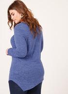 Tunique asymétrique en tricot à col tunisien, Bleu, hi-res