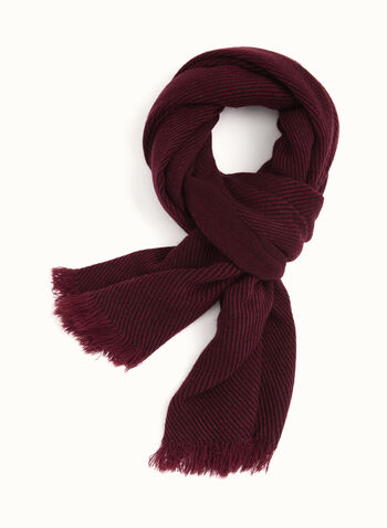 Fringed Pashmina Scarf, Red, hi-res