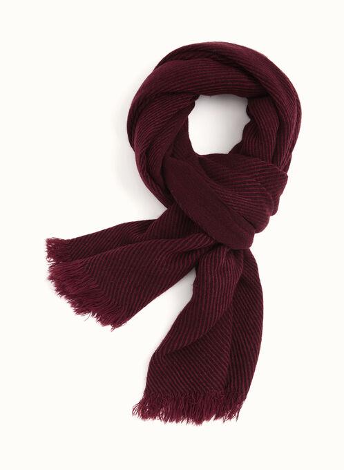 Foulard pashmina en acrylique, Rouge, hi-res