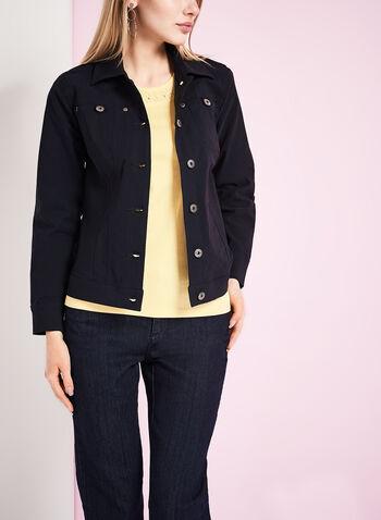 Simon Chang Bengaline Jean Jacket, Blue, hi-res