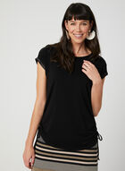 Satin Trim T-Shirt, Black, hi-res