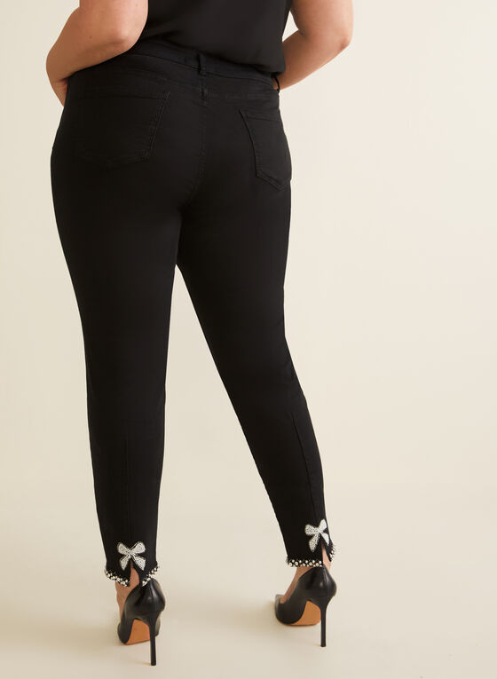 Frank Lyman - Studded Cuff Jeans, Black