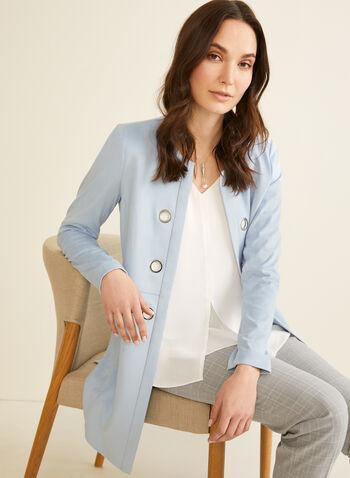 V-Neck Crepe Blouse, Off White,  blouse, sleeveless, v neck, crepe, spring summer 2020