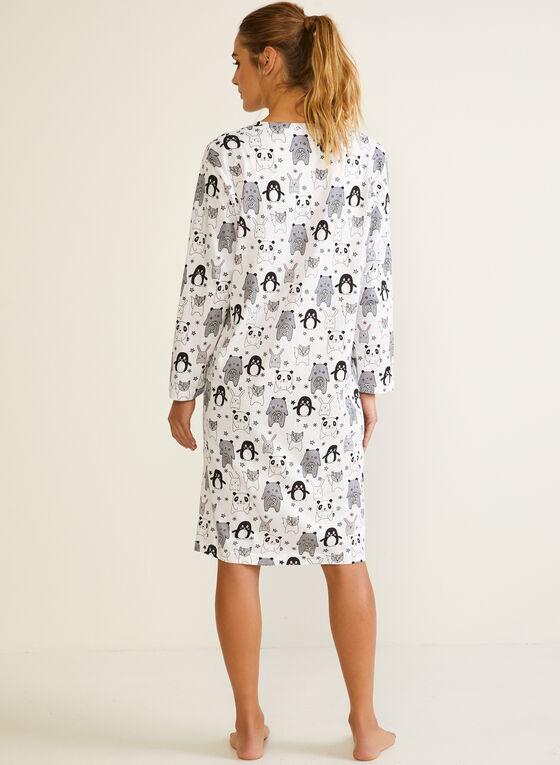 Animal Print Nightshirt, Black