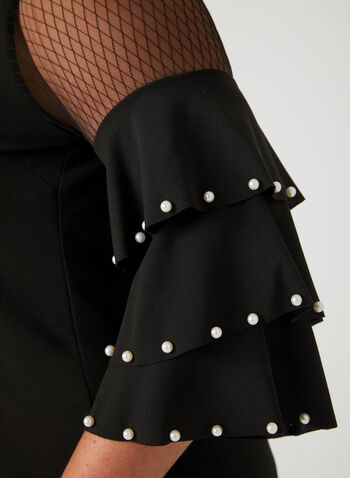 Frank Lyman - Pearl Detail Dress, Black, hi-res