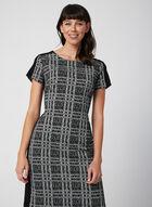 Plaid Print Dress, Black