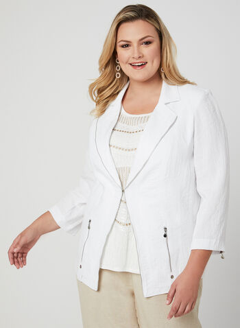 Vex - Notch Collar Jacket, White, hi-res