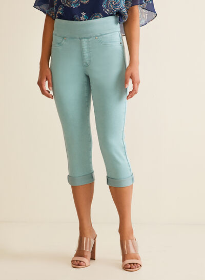 Capri pull-on en denim