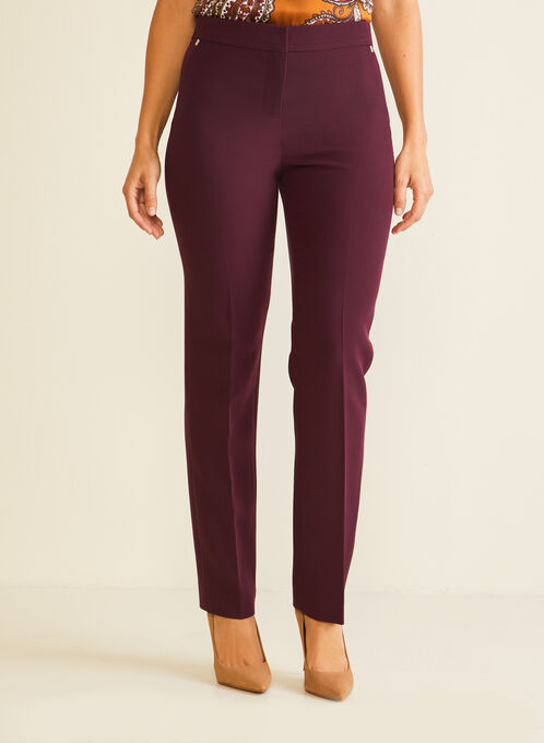 Modern Fit Straight Leg Pants, Purple