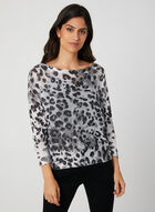 M Made in Italy - Animal Print Knit Sweater, Grey, hi-res