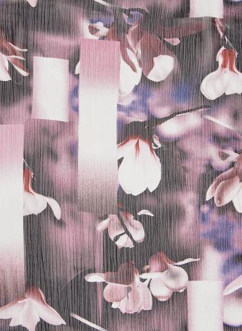 Floral Print Chiffon Scarf, Multi, hi-res
