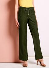 Modern Fit Straight Leg Linen Pants, , hi-res