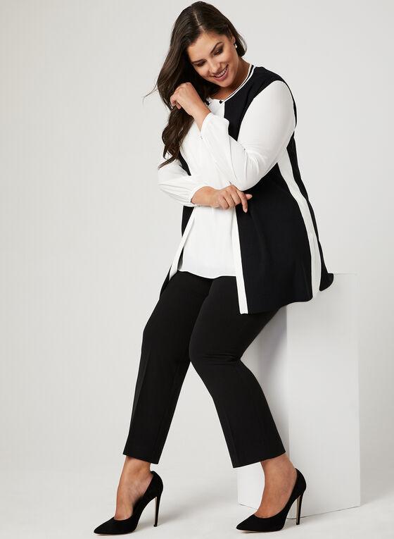 Veste sans manches en tricot  , Noir, hi-res