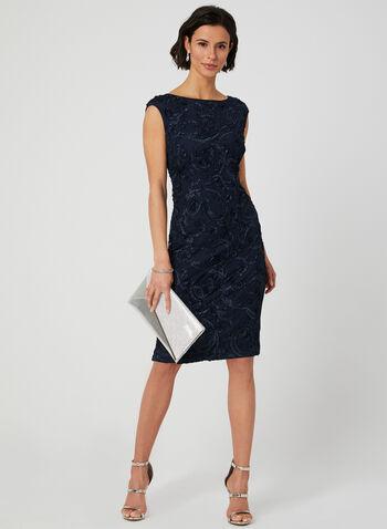 Jessica Howard – Soutache Lace Dress, Blue, hi-res