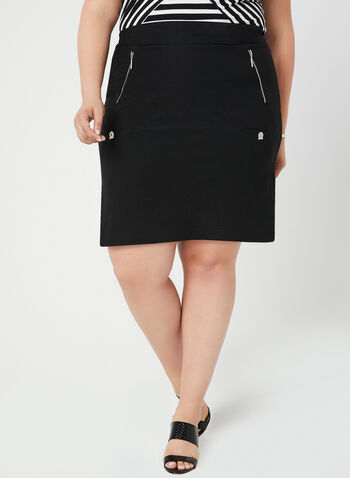 Simon Chang - Micro Twill Skort, Black, hi-res