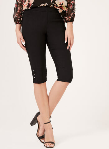 Simon Chang - Pull-On Capri Pants, Black, hi-res