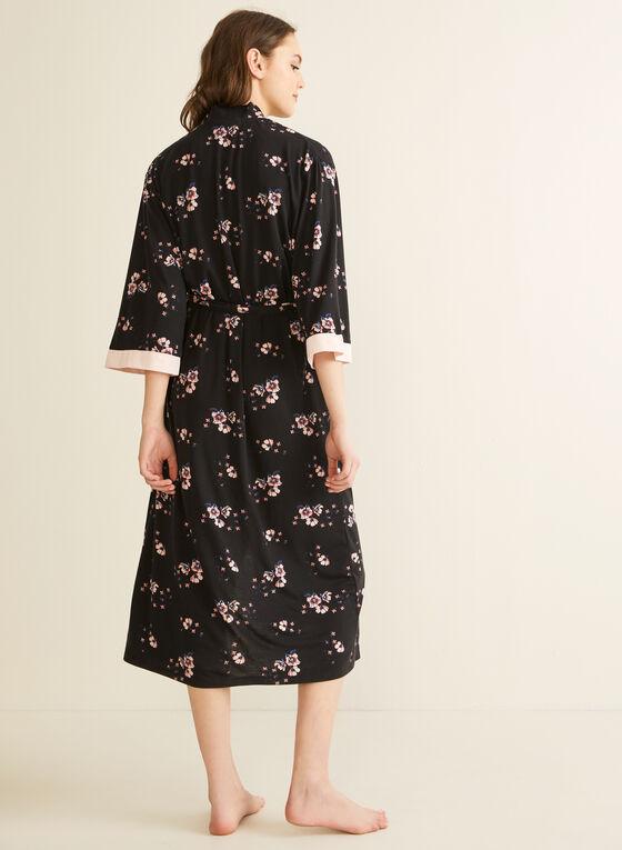 Comfort & Co. - Peignoir à motif floral, Noir