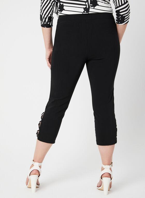 Straight Leg Capris, Black