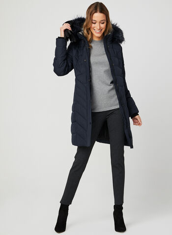 Novelti - Quilted Down Coat, Blue, hi-res