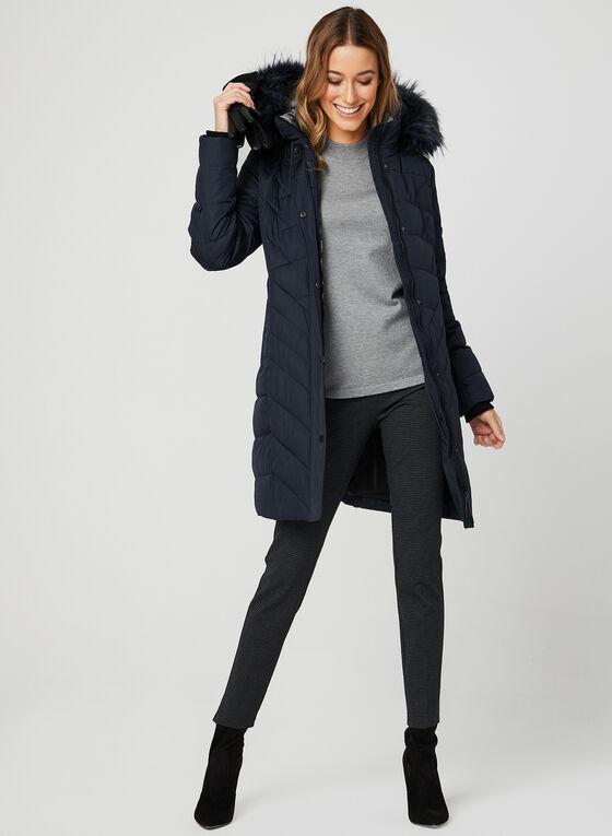Novelti - Quilted Down Coat, Blue, hi-res