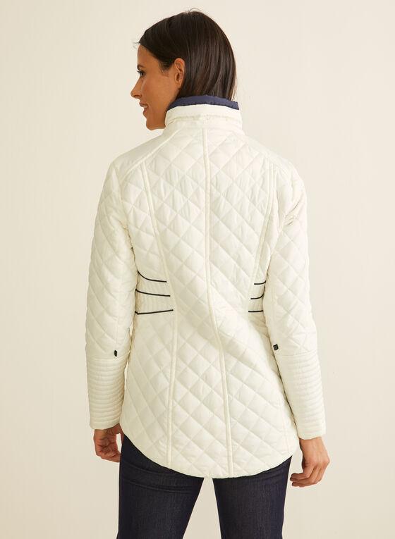 Novelti - Contrast Detail Quilted Coat, Grey