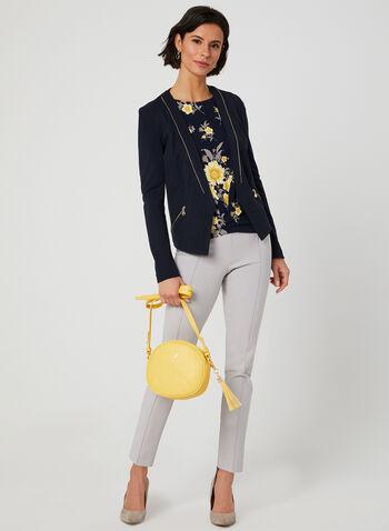 Floral Print Jersey Top, Blue, hi-res,  Canada, drop shoulder, floral print, jersey, fall 2019