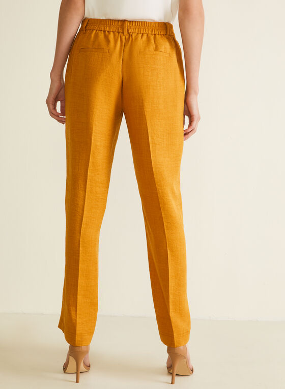 Modern Fit Wide Leg Pants, Yellow