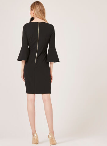 Jessica Howard - Crepe Pencil Dress, Black, hi-res