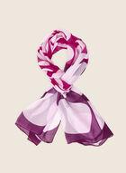 Oblong Polka Dot Print Scarf, Purple