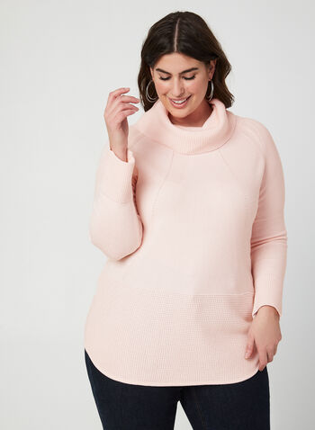 Cowl Neck Sweater, Pink,  sweater, knit, cowl neck, long sleeves, fall 2019, winter 2019